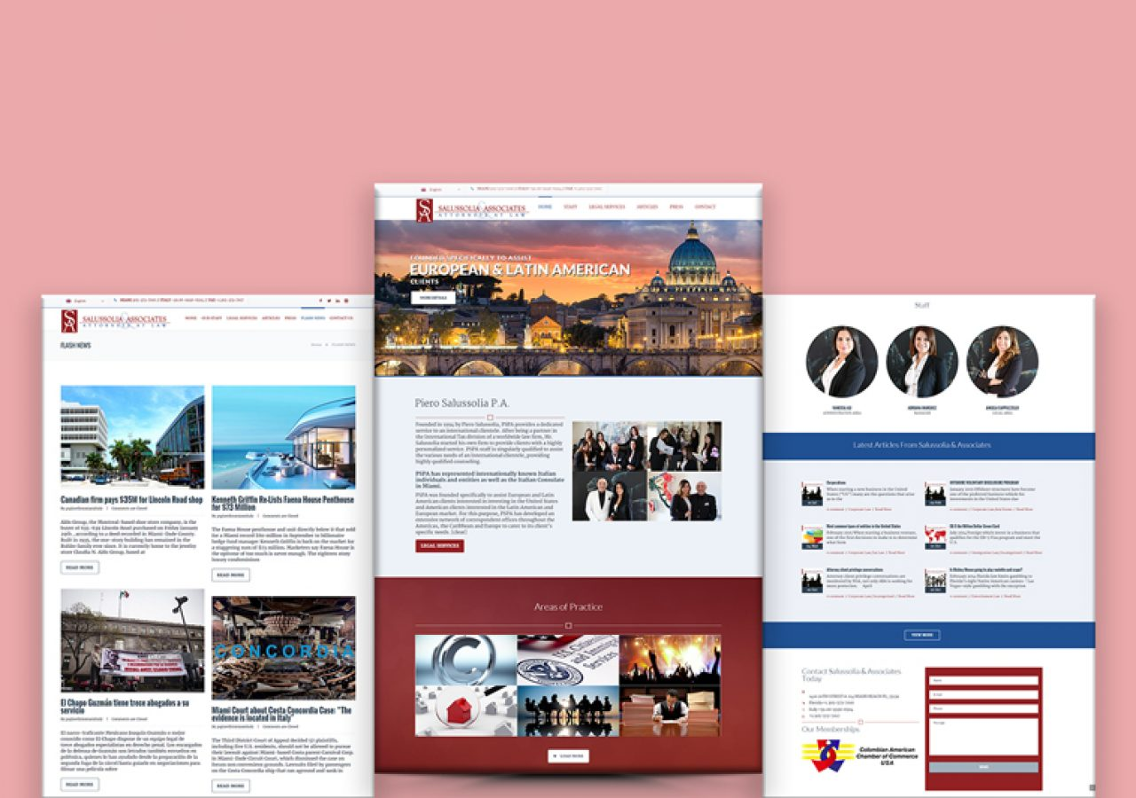 International Law Firm Website Design