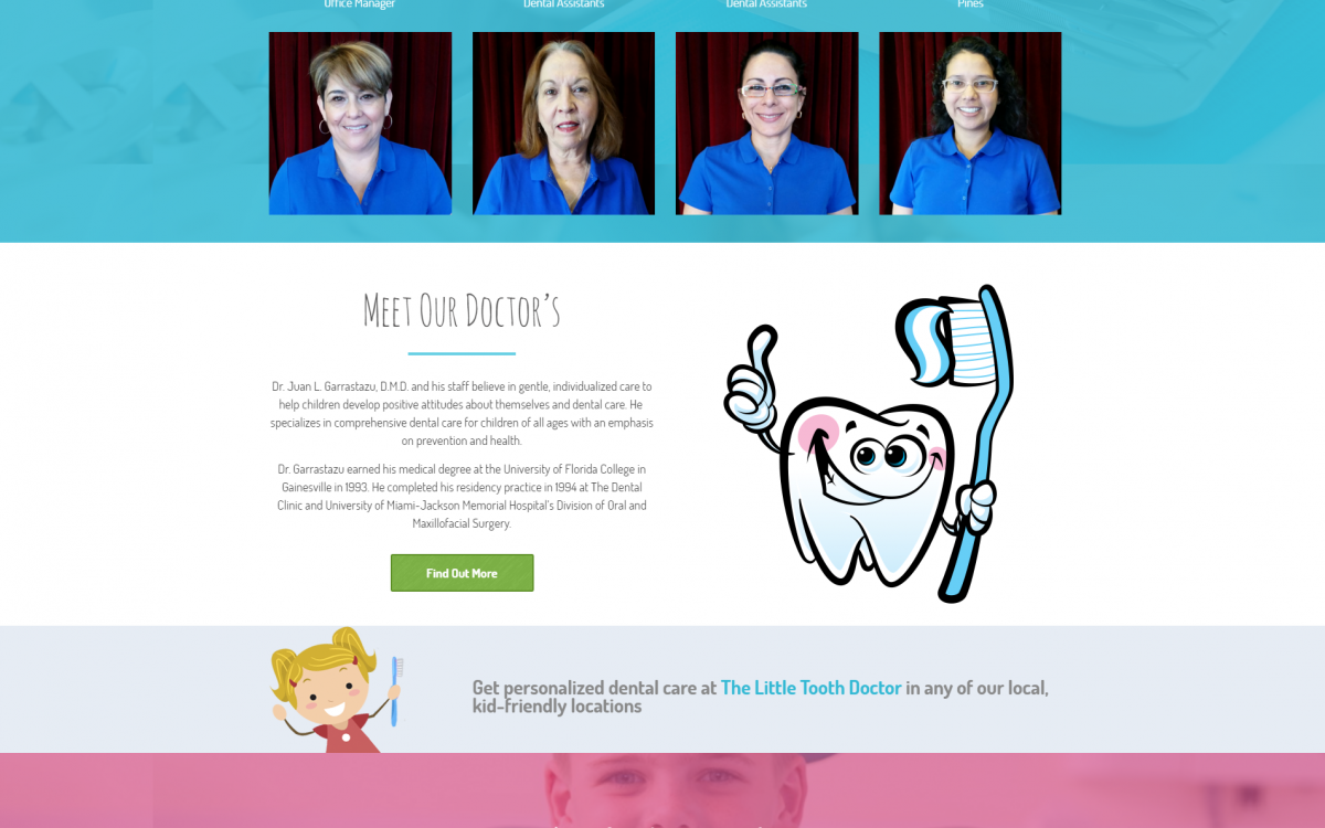 Branding and Website Design for Pediatric Dentist Offices