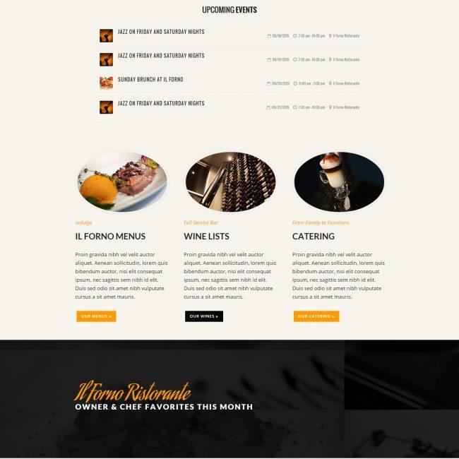 Il Forno Specials Web Design Services