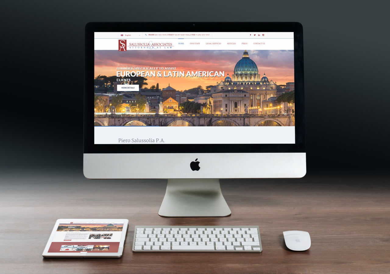Responsive Web Design Services for Salussolia and Associates