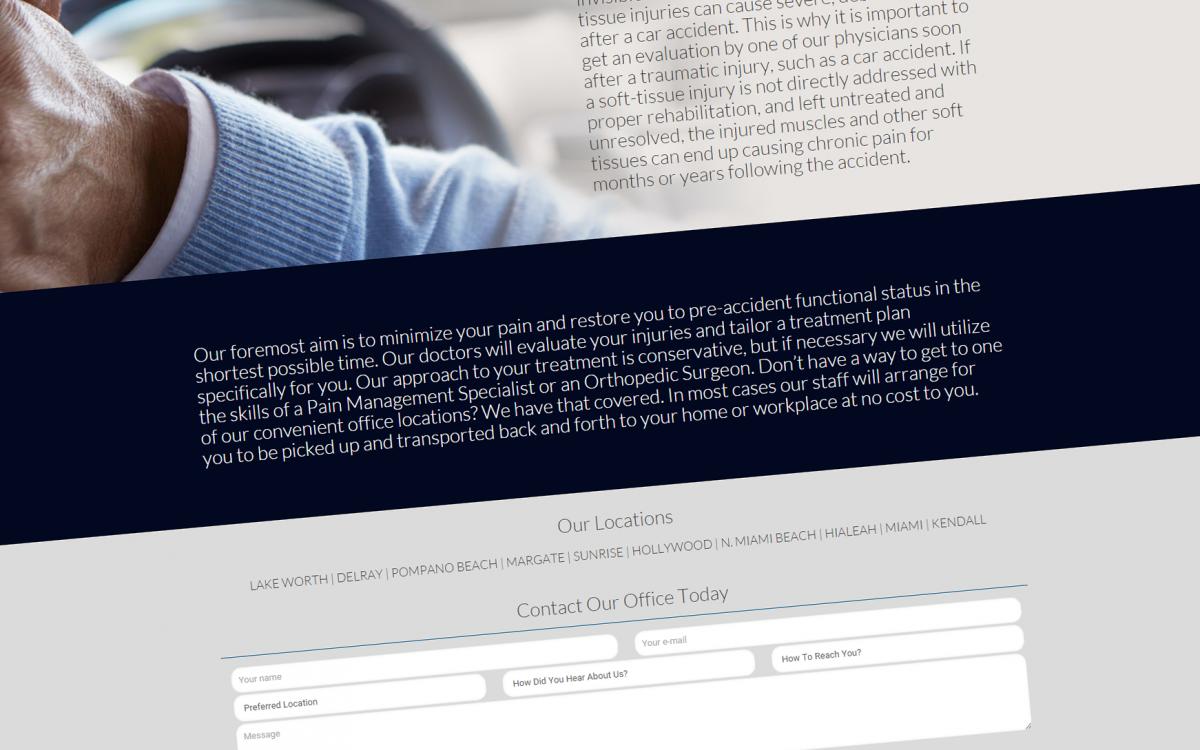 Accident Relief Website Design