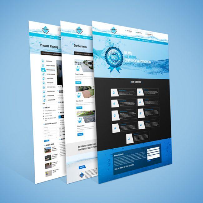power washing website design thynks