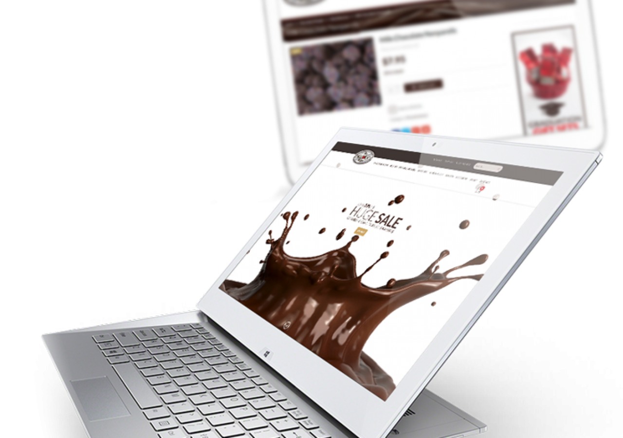 JP Chocolate Mobile Ready Ecommerce Design