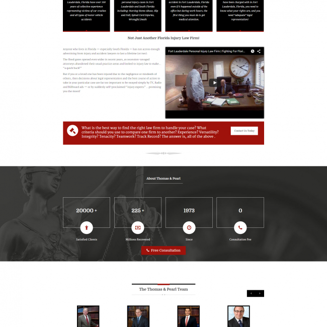 thomas and pearl website design broward county