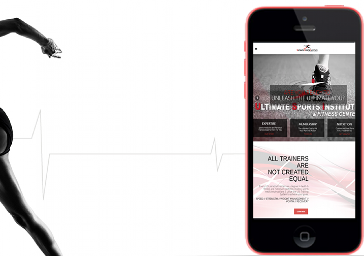 Ultimate Sports Institute Mobile Friendly Website