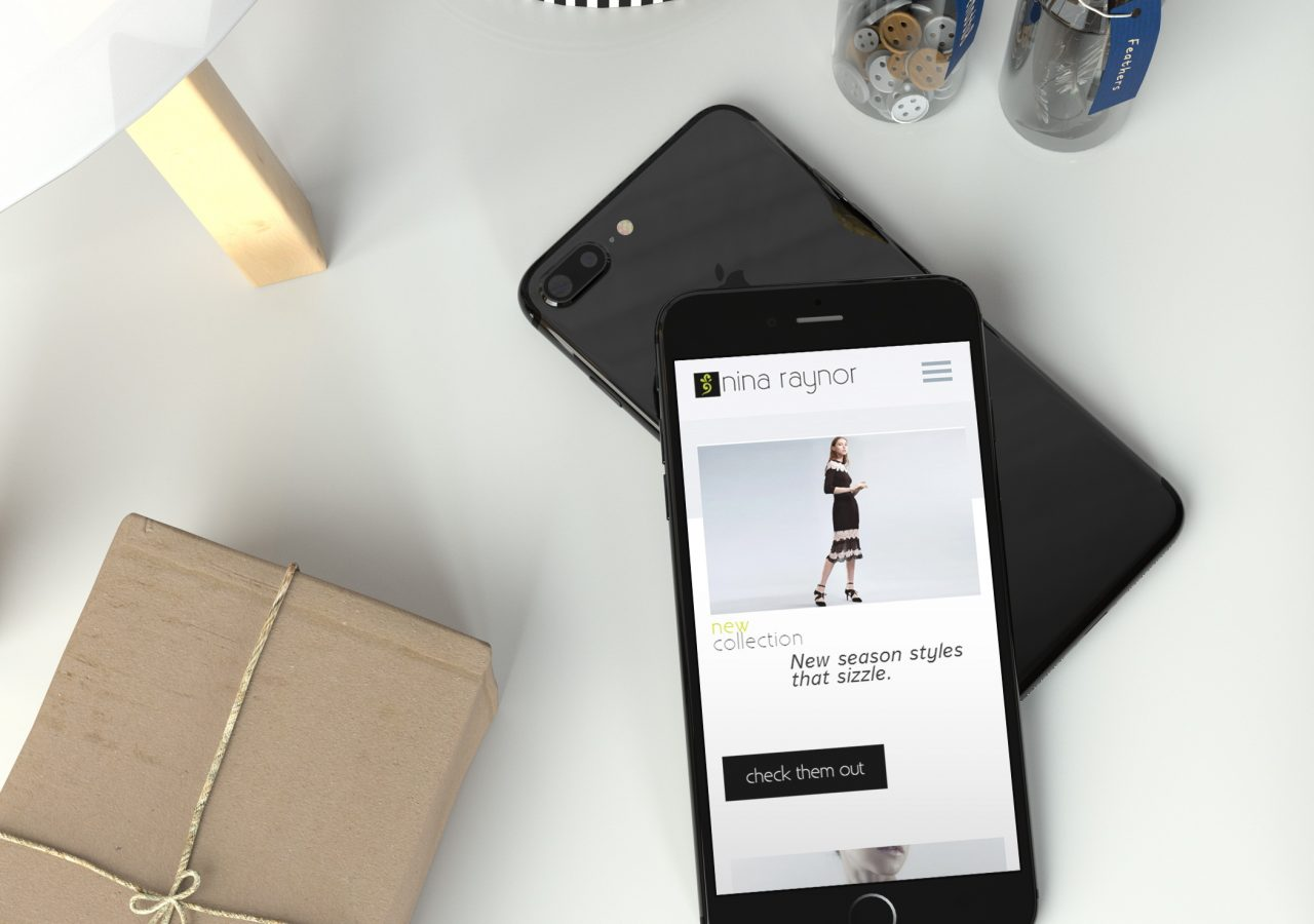 nina raynor website mobile design