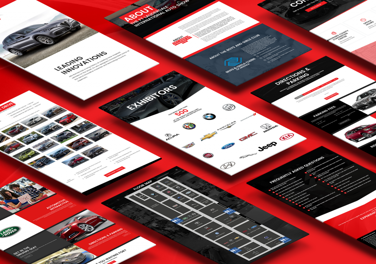 ftl auto show website design